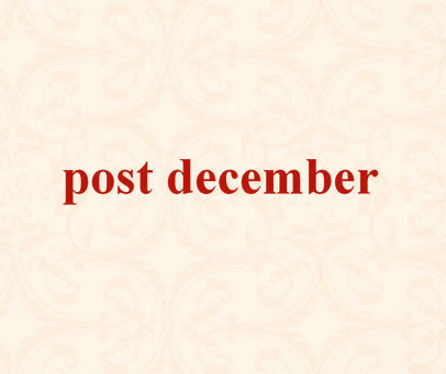 POST DECEMBER