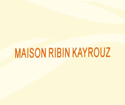 MAISON RIBIN KAYROUZ